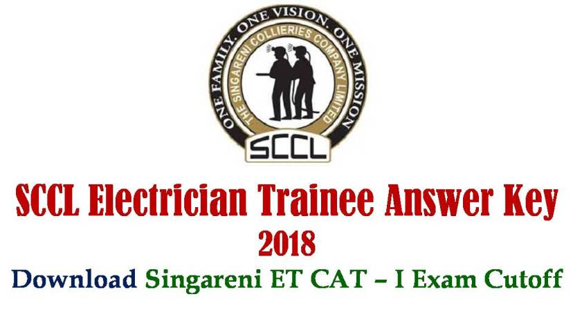 SCCL Electrician trainee Answer Key Paper 2018