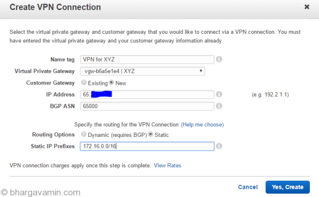 create-vpn-connection