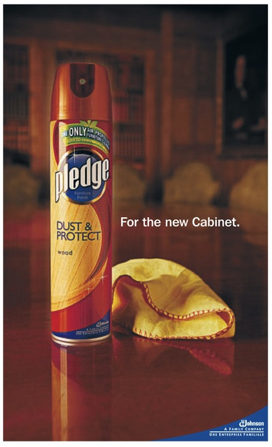 Pledge Furniture Polish - topical ad