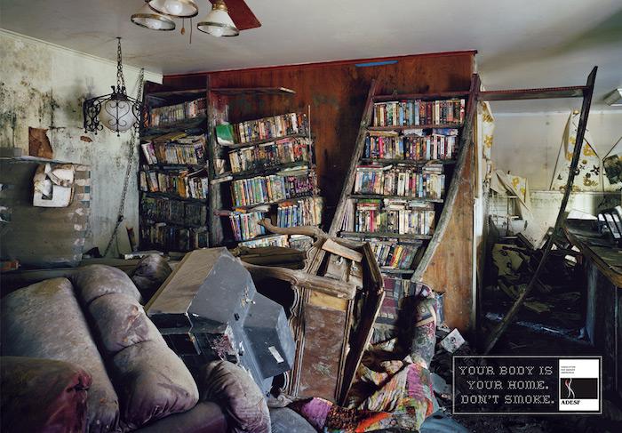 Adesf Smoking Awareness: Bookcase