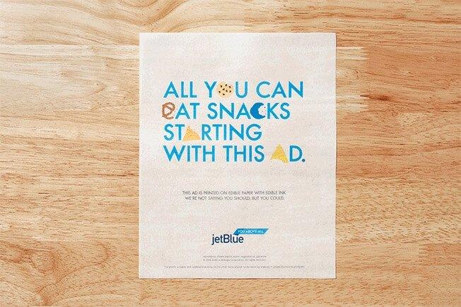 JetBlue edible ad