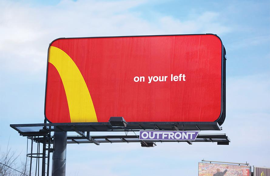 McDonald's arch billboard