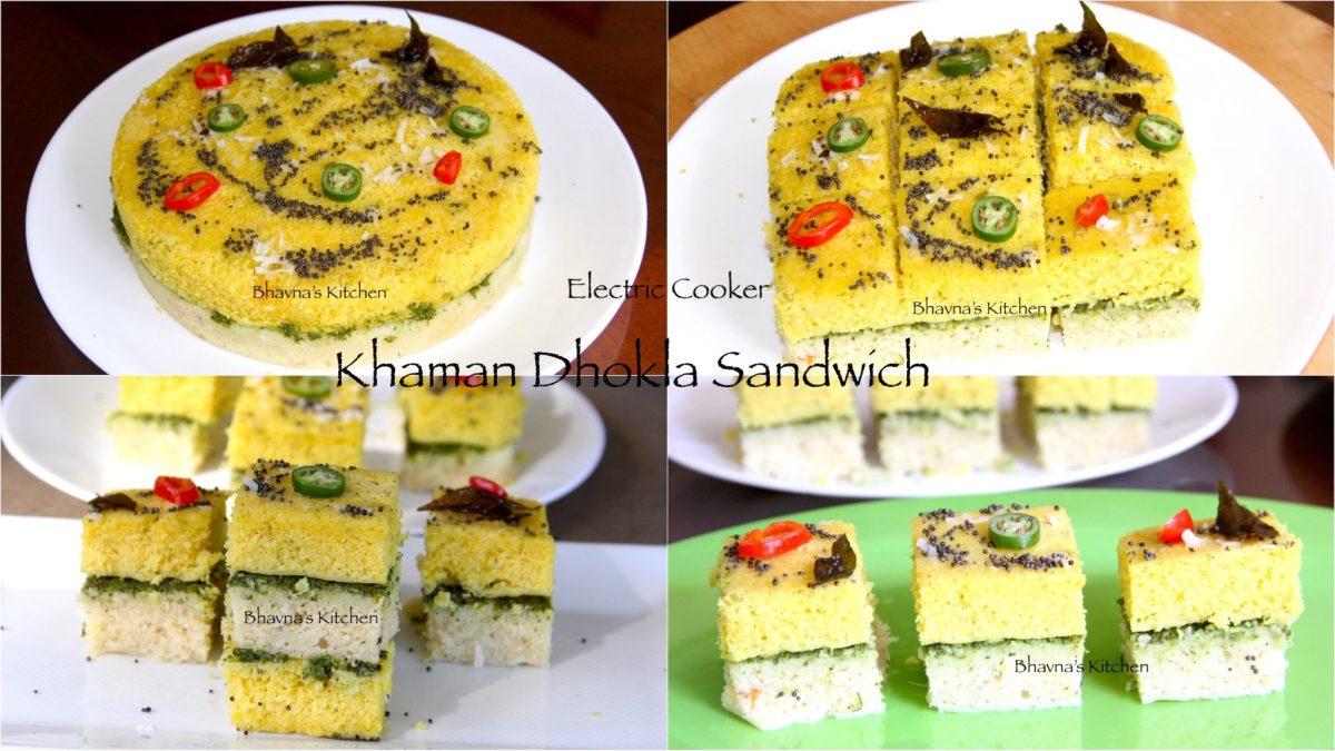 Instant Khaman Dhokla Sandwiches - Electric Pressure Cooker