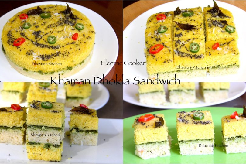 Instant Khaman Dhokla Sandwiches – Electric Pressure Cooker