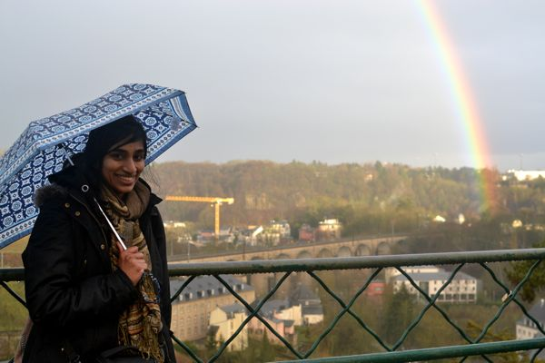 Rained on and gross and exhausted but oh so happy to find that rainbow at the end!