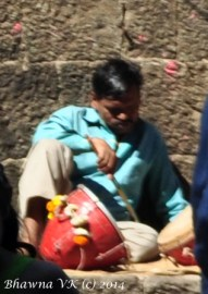 A local Musician dozing in the sun