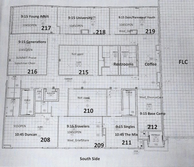 Map of Room Assignments - 2nd floor