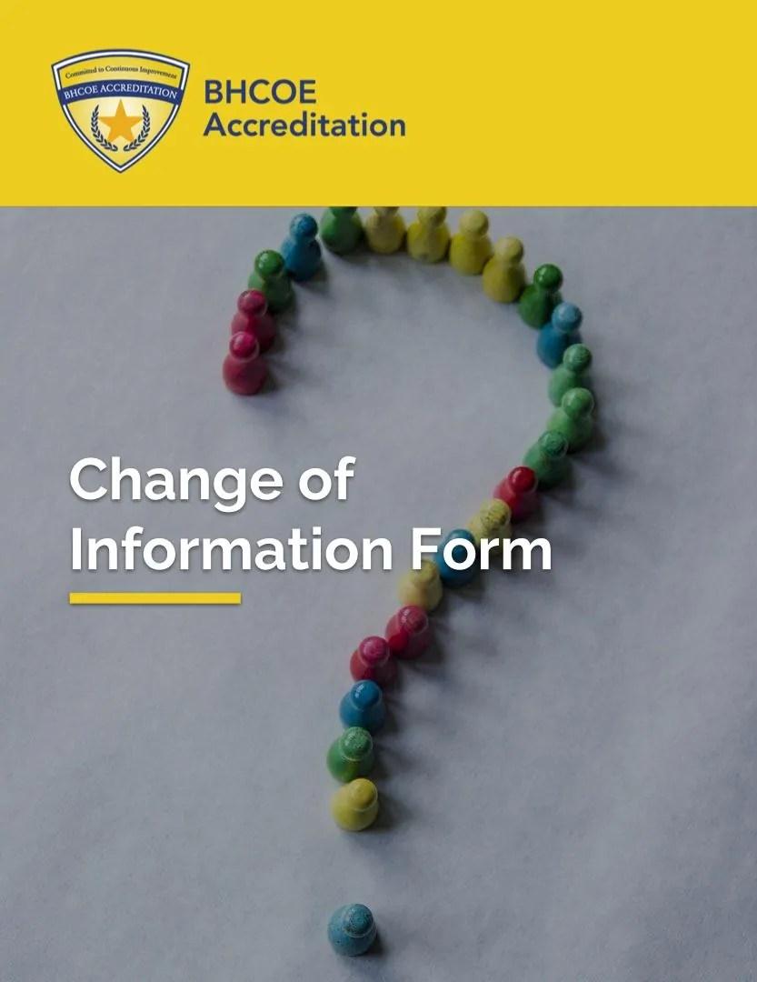 BHCOE Change of Information Form