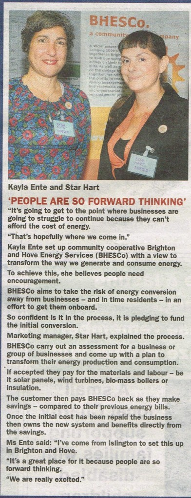 From the Brighton Argus 10th September 2013 issue