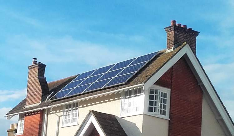 BHESCO solar panels on a home Brighton