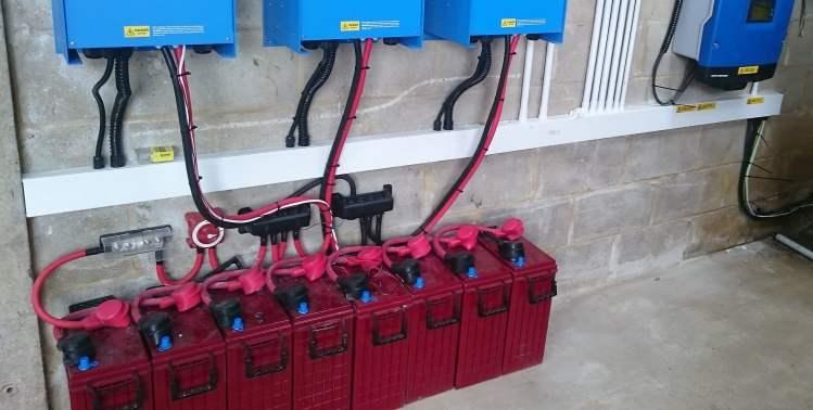 solar Battery storage at dyke golf club