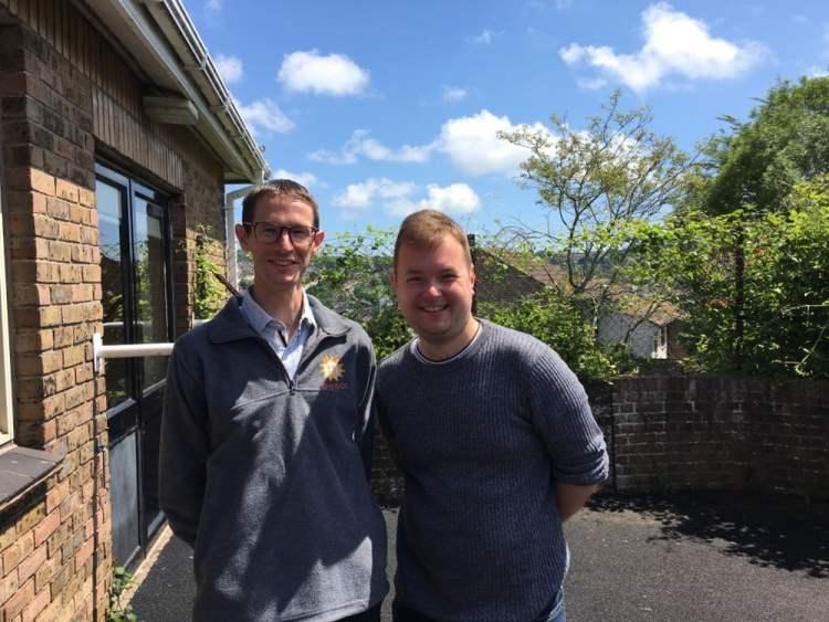Brighton Hove Council - Dan Curtis and Martin Osborne at Hollingdean Community Centre