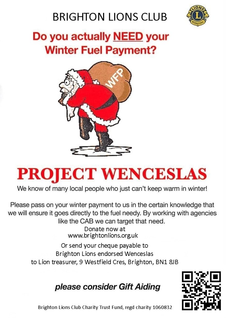 Brighton and Hove Lions Project Wenceslas Poster