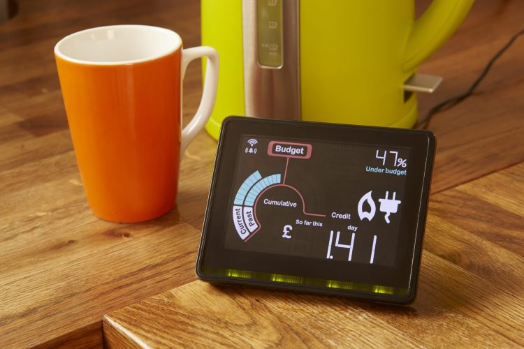 smart meter in home display with a time of use tariff encouraging demand side response