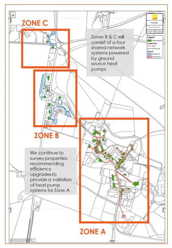 Firle Village Heat Network Map June 2020