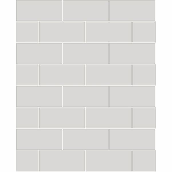 galley light grey subway tile wallpaper