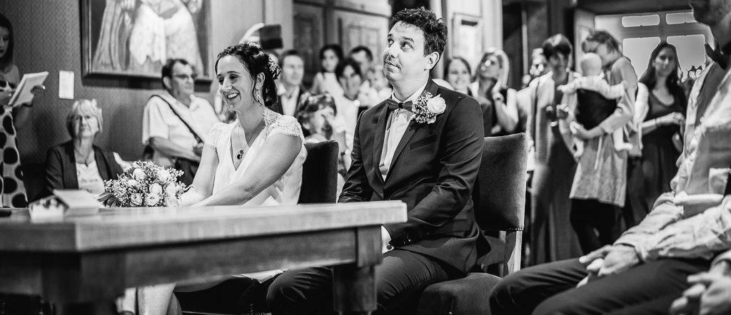 Cérémonie civile pour le mariage de Damien, a la mairie de Suze