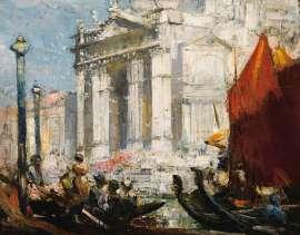 Lot 27 - Arthur Streeton, The Festa (The Fete), 1908, est. $120,000-160,000. Majestic