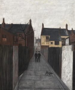 Lot 107 - James Cant, Street Scene, London, 1955, est. $5,000-7,000. Yes he can!