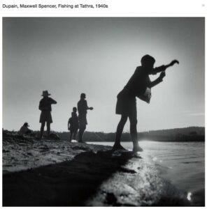 Lot 73 - Fishing at Tathra, 1940s, est. $600-800. Young Tackers at Tathra