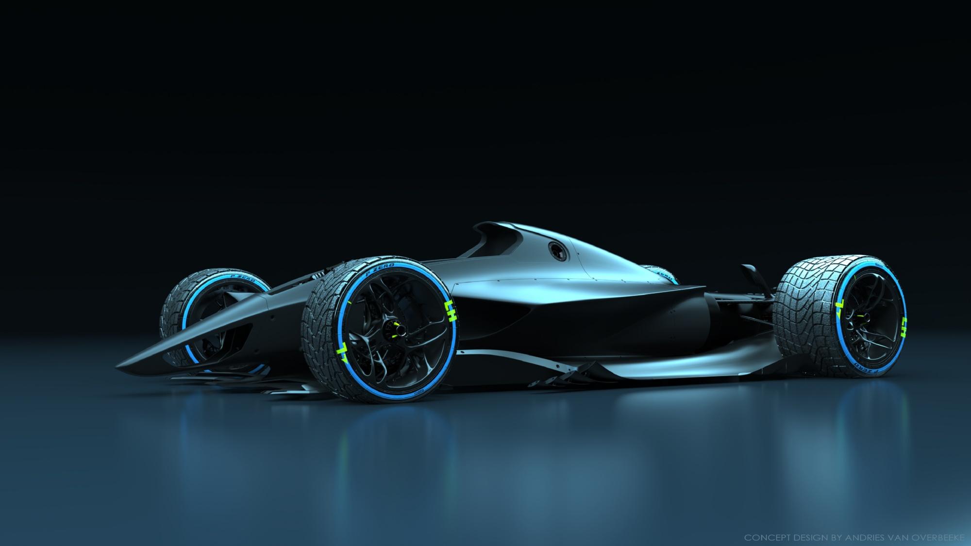 Formula 1 Future Concept by Andries van Overbeeke