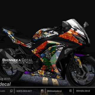 DECAL STICKER NINJA 250 FI DESAIN YAKUZA-017