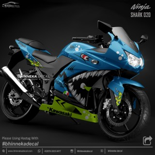 DECAL STICKER NINJA KARBU DESAIN TOSKA SHARK-011