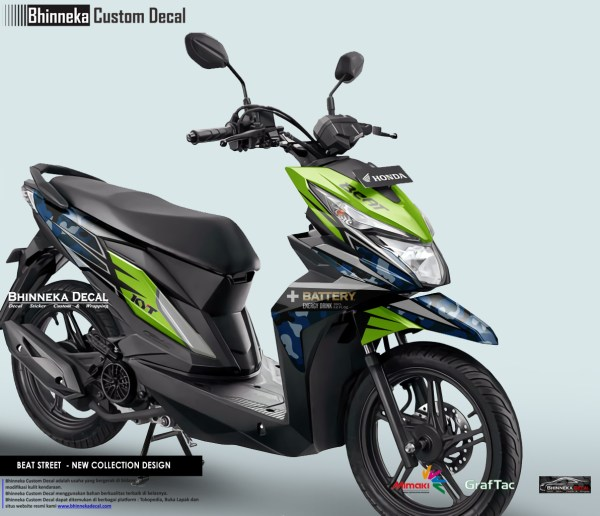 DECAL STICKER BEAT STREET DESAIN KYT-005