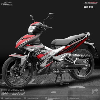 DECAL STICKER MX-KING 150 DESAIN RED-013