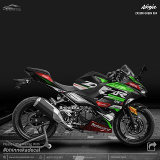 DECAL STICKER NINJA FI ALL NEW DESAIN ZX-250R GREEN-019