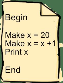 Algorithm using variables