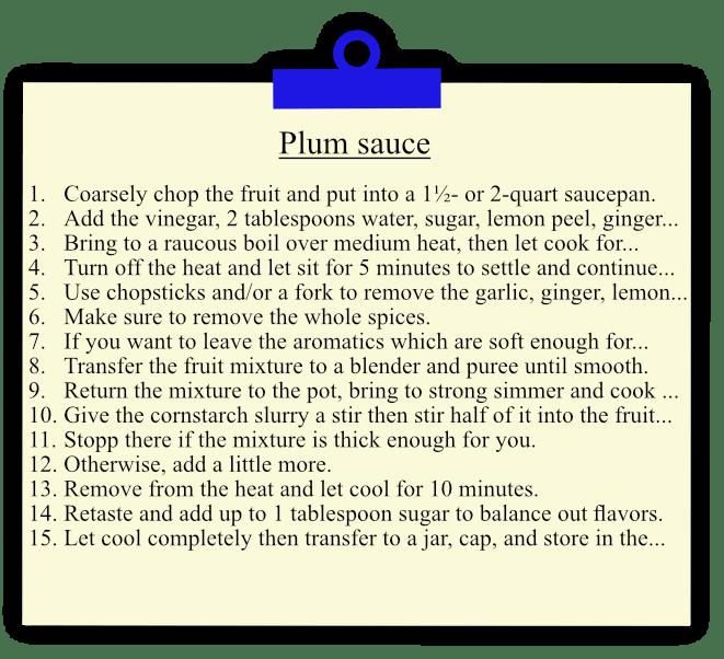 Plum Sauce Recipe