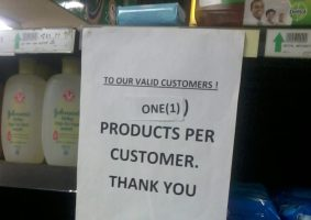 """Consumers Rush for Products Despite The President's """"Do Not Panic"""" Message"""