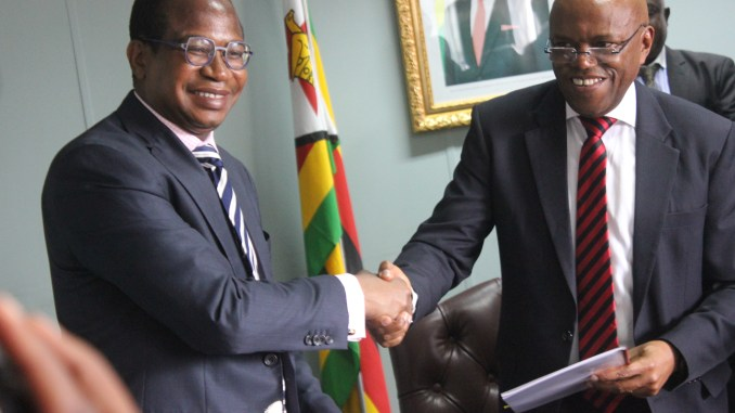 Finance Minister Signs the Cholera Emergency Tripartite Agreement
