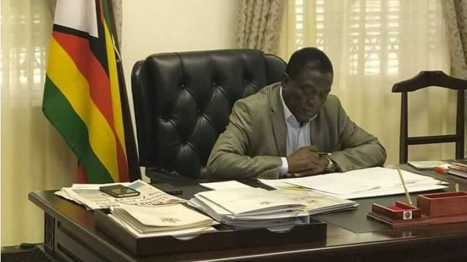 President Emmerson Mnangagwa spent his Saturday at the Munhumutapa offices briefing leaders of other countries of the situation in Zimbabwe following protests that took place in January this year according to a press statement.
