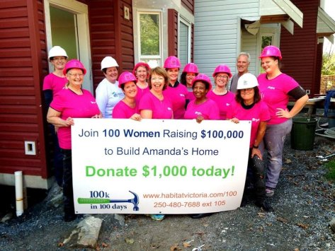 Habitat for Humanity Victoria - ladies in front of the house