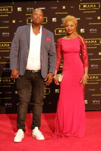 The artists Mampinja (L) and Babes Wodumo (R) at the red carpet during the MAMA 2016, in Johannesburg, South Africa on October 22nd, 2016