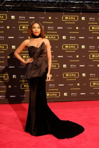 The co-host Bonang Matheba at the red carpet during the MAMA 2016, in Johannesburg, South Africa on October 22nd, 2016