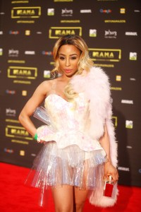 The TV personality Khanyi Nbau at the red carpet during the MAMA 2016, in Johannesburg, South Africa on October 22nd, 2016