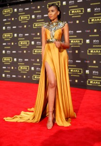 The TV personality Blue at the red carpet during the MAMA 2016, in Johannesburg, South Africa on October 22nd, 2016
