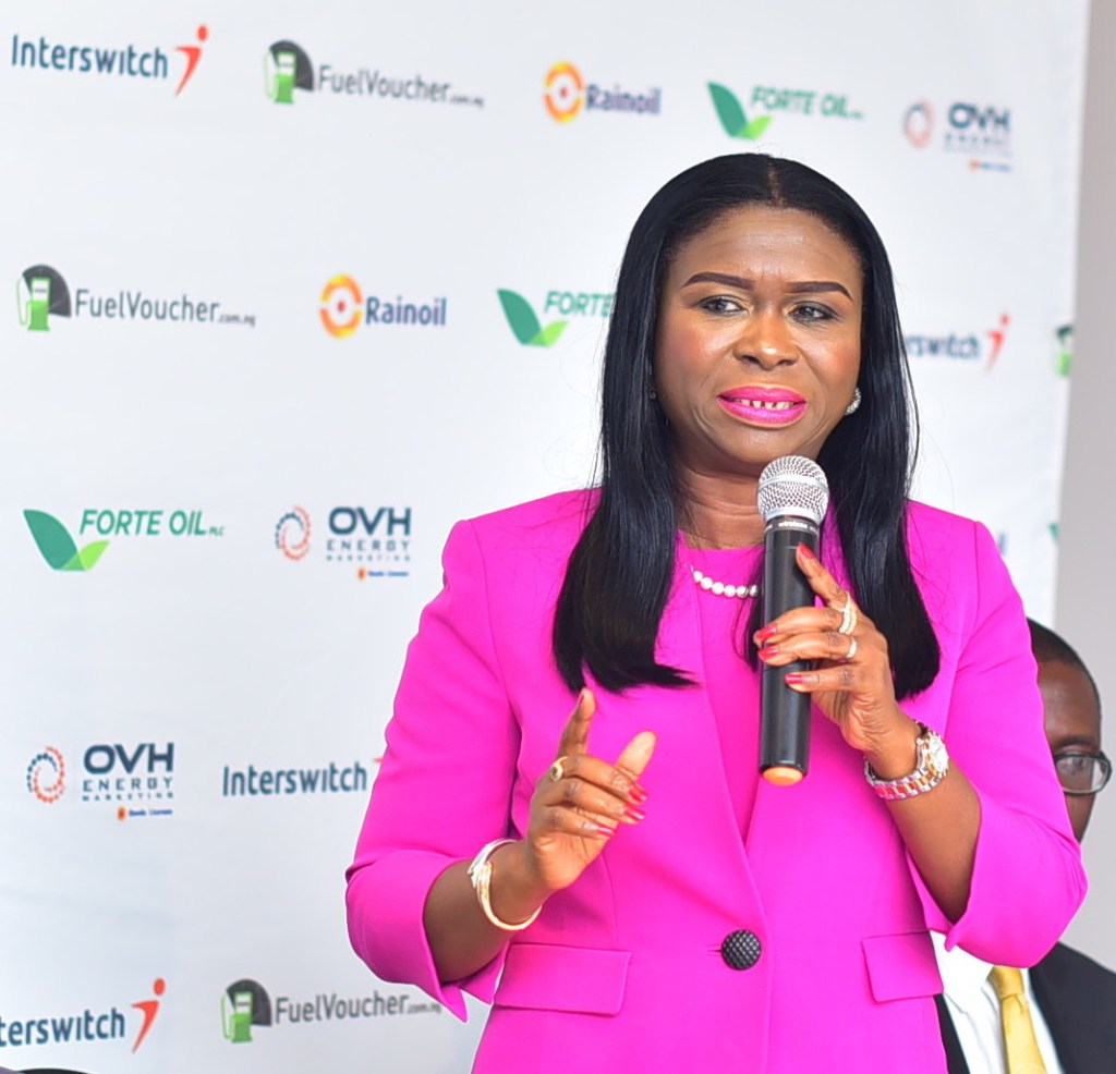 Mrs. Chinyere-Don-Okhuofu-Divisional-CEO-of-Interswitch-Industry-Vertical-Markets-during-her-opening-remarks
