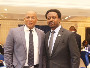 GMD Interswitch, Mitchell Elegbe with Country Director, Visa West Africa, Ade Ashaye
