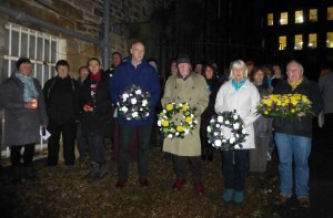 Scottish Friends of Bhopal commemorate the Bhopal tragedy with a service at the Bhopal memorial in Greyfriars Kirk, Edinburgh