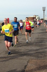 Simon Davies running for the BMA in the Brighton Half Marathon - 2015