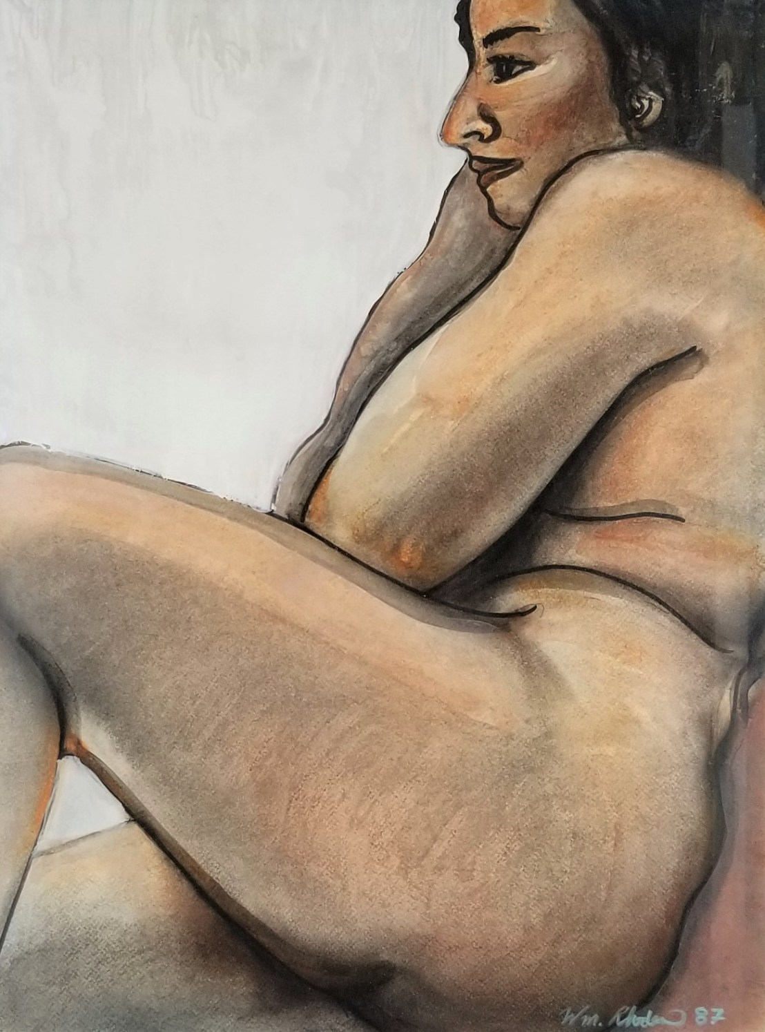 """""""Reclining Nude""""; (DETAIL)"""