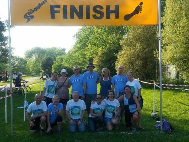 BHR team at the end of the Green Belt Relay