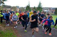 on they're off at Clair parkrun