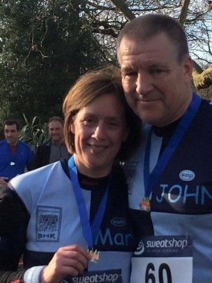 John and Marie at the Battersea 10k 2015