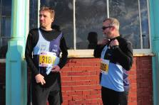 Neil and Jay 'getting ready' at the Brighton Half