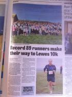 Darren and Lewes 10k record turnout in the Middy